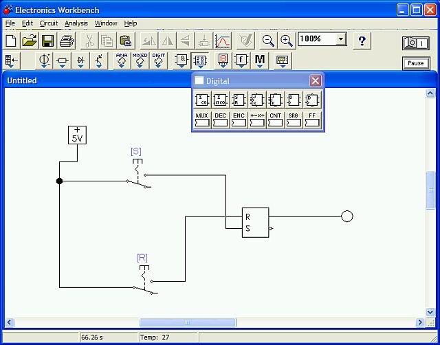 Как построить логическую схему в ewb 14