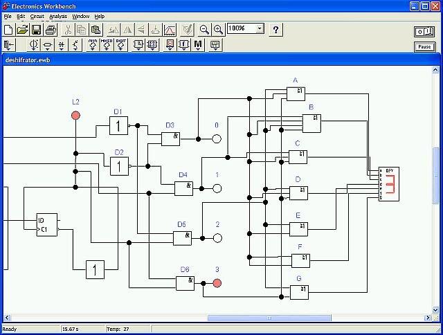 Как построить логическую схему в ewb 303